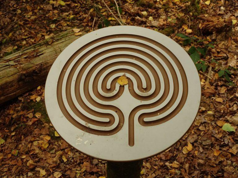 Wald fuer die Seele Labyrinth Tafel